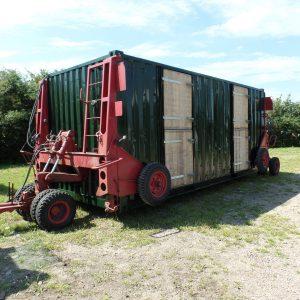 vervoer paardenstal container